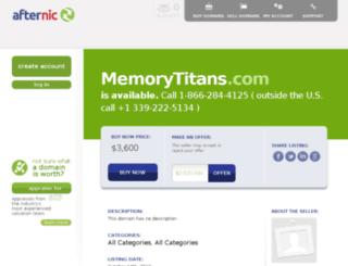 memorytitans.com screenshot