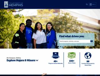 memphis.edu screenshot