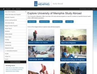 memphis.studioabroad.com screenshot