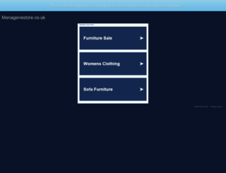 menageriestore.co.uk screenshot