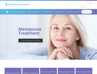 menopausecoach.com screenshot