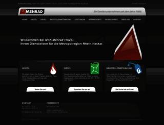 menrad-heizoel.de screenshot