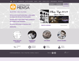 mensa.org.au screenshot