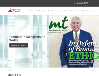 mentorcapital.com screenshot