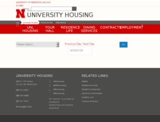 menu.unl.edu screenshot