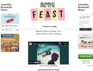 menufeast.com.au screenshot