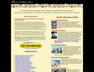 menusearch.net screenshot