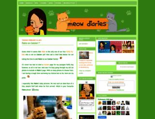 meowdiaries.com screenshot