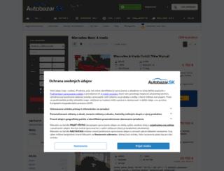 mercedes-a-trieda.autobazar.sk screenshot