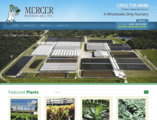mercerbotanicals.com screenshot