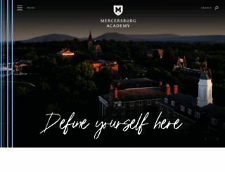 mercersburg.edu screenshot