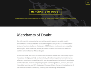 merchantsofdoubt.org screenshot
