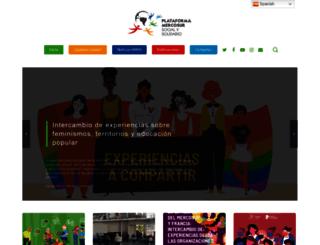 mercosursocialsolidario.org screenshot