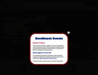 mercymontessori.org screenshot