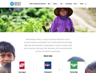 mercyrelief.org screenshot