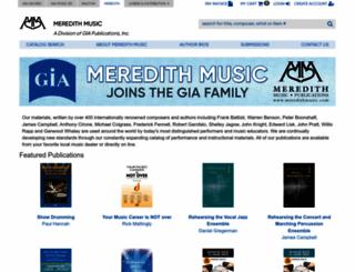 meredithmusic.com screenshot