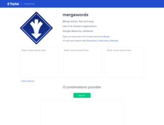 mergewords.com screenshot