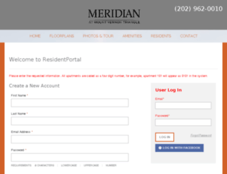 meridianmountvernon.residentportal.com screenshot