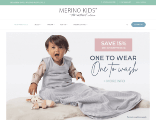 merinokids.com.au screenshot