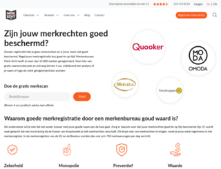 merkenregistratie.nl screenshot