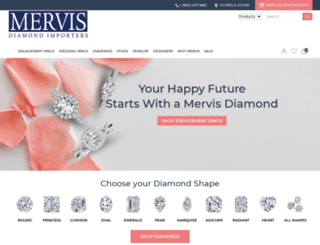 mervisdiamond.com screenshot