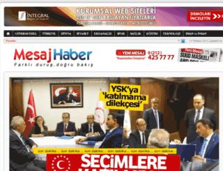 mesajhaber.com screenshot