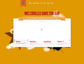 mescouillesdanstonslip.com screenshot