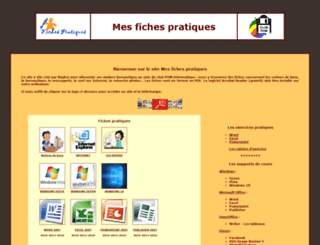 mesfichespratiques.free.fr screenshot