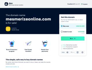 mesmerizeonline.com screenshot