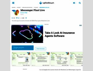 messenger-plus-live.uptodown.com screenshot