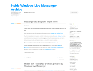 messengersays.spaces.live.com screenshot