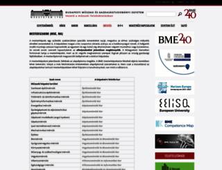 mesterek.bme.hu screenshot
