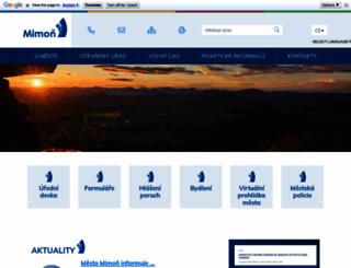 mestomimon.cz screenshot