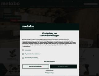 metabo.be screenshot