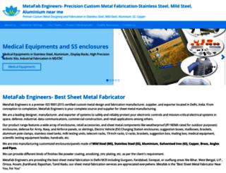 metafab.co.in screenshot