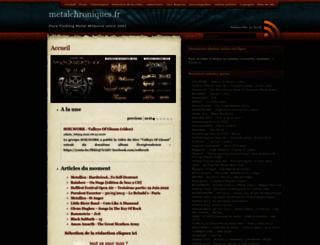 metalchroniques.fr screenshot