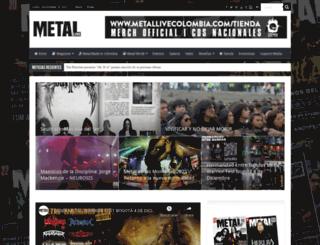 metallivecolombia.com screenshot