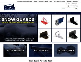 metalroofsnowguards.com screenshot