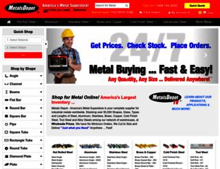 metalsdepot.com screenshot