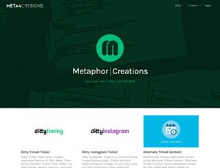 metaphorcreations.com screenshot