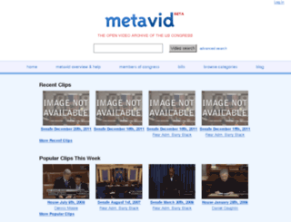 metavid.ucsc.edu screenshot
