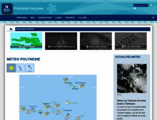 meteo.pf screenshot