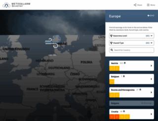 meteoalarm.eu screenshot