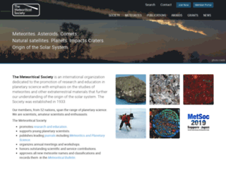 meteoriticalsociety.org screenshot