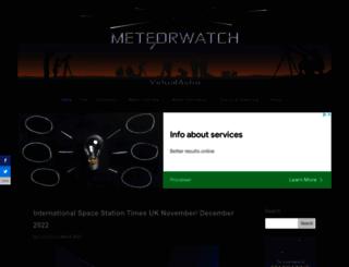 meteorwatch.org screenshot