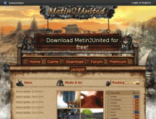 metin2.gamezunited.com screenshot