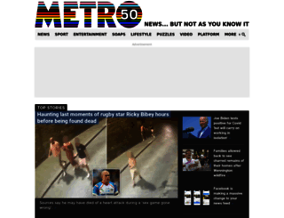 metro.co.uk screenshot