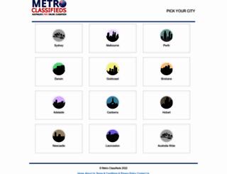 metroclassifieds.com.au screenshot