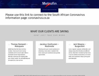 metrofin.co.za screenshot