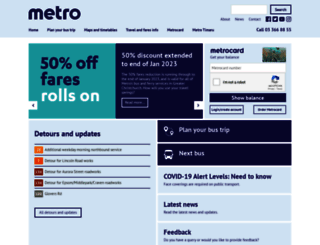 metroinfo.co.nz screenshot